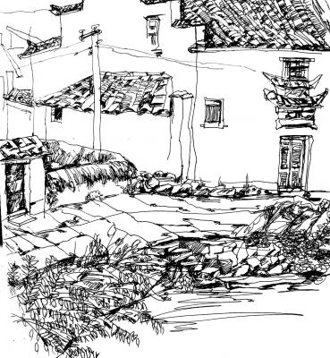 Skizze Gebäude